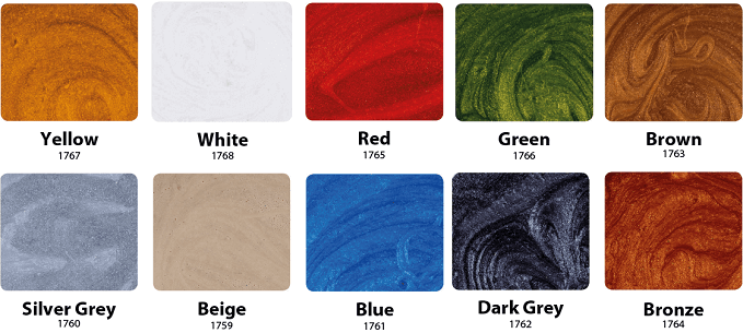 metallic colour guide